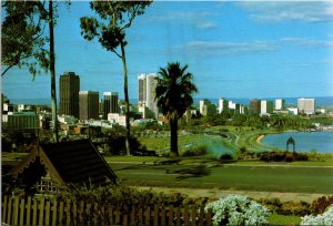 Australia Perth Skyline Floral Clock King's Park Postcard used with stamp 1978