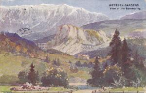 Western Gardens , View of the Semmering , Austria , PU-1906
