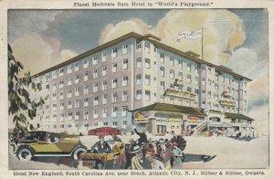 ATLANTIC CITY , NJ , 1923; Hotel New England, South Carolina Ave. near Beach