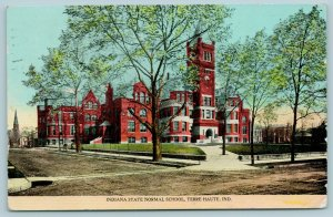 Terre Haute Indiana~State Normal School~Path to Main Tower Building~1912 PC