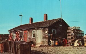 A Typical Lobster Shack in Maine, ME, Chrome Vintage Postcard g8263