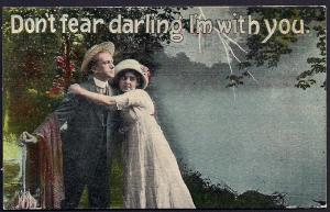 Don't Fear Darling I'm with You Lady Lightning used c1915