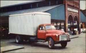 GMC Conventional Truck 350 Series - Postcard c1950s-60s