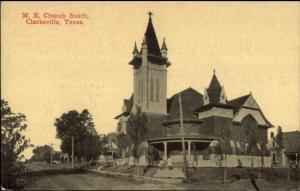 Clarksville TX ME Church c1910 Postcard