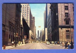 Toronto, Ontario,Canada Postcard,Bay Street/City Hall,'60's?