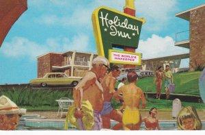 POCATALIGO, South Carolina, 1940-60s; Holiday Inn, Swimming Pool, Classic Cars