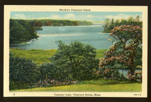 Martha's Vineyard, Massachusetts/Mass/MA Postcard, Tashmoo Lake, Cape Cod