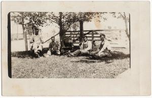 1907-15 RPPC German-American Men Drinking Beer in the Shade Real Photo Postcard