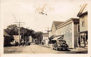 St George N. B. Canada Main Street Storefronts Old Cars RPPC Postcard