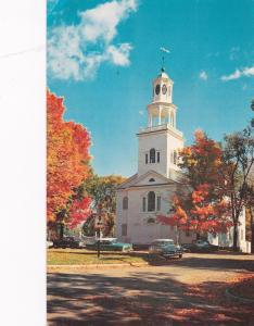 BENNINGTON, Vermont, 1940-60s; No. 19, The Old First Church, Classic Cars