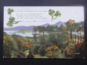 Irish Verse by Eva Brennan OH! IRISH HILLS & LAKES SUBLIME....c1929 by Valentine