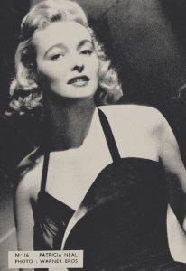 Patricia Neal 1950s Belgium Postcard Size Actress Card