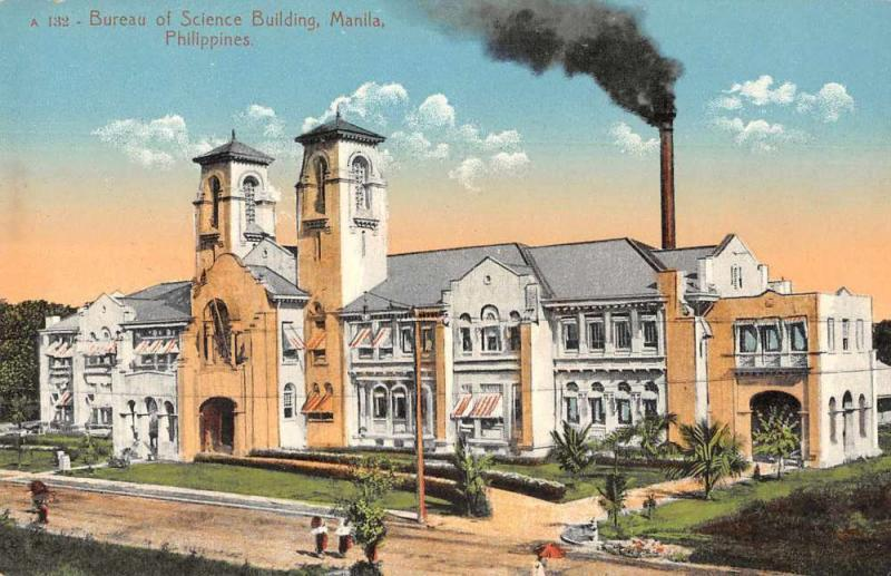 Manila Philippines Bureau of Science Building Vintage Postcard JE229549