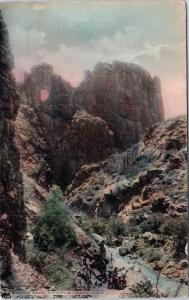CRIPPLE CREEK, CO Colorado   WINDOW ROCK & Creek   c1910s  Handcolored Postcard