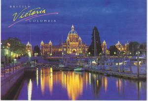 PARLIAMENT BUILDINGS AND YACHTS IN INNER HARBOUR VICTORIA BC