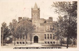 Falls City Nebraska~High School~1920s Real Photo Postcard~RPPC
