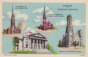 Kentucky Louisville Churches Multi View Curteich