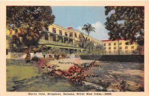 E58/ Foreign Postcard Carribean Bridgetown Barbados Marine Hotel BWI 1