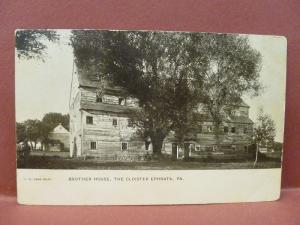 Old Postcard PA Ephrata Brother House The Cloister #2