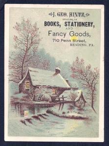 VICTORIAN TRADE CARD Geo Hintz Books Stationery Fancy Goods