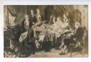 249043 Death of MOZART Composer O'Neill 1915 year russian RPPC