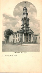 Connecticut Hartford Center Church Private Mailing Card
