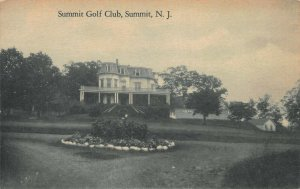Summit Golf Club, Summit, New Jersey, Early Postcard, Unused