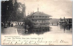 Cuyahoga Falls, Ohio Postcard The Pavilion, Silver Lake Rotograph 1907 Cancel