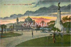 Postcard Old Nice Palais de la Jetee (Sunset)