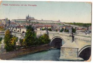 Prag. Karlsbrucke mit der Kleinseite