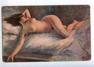 202390 Dreaming NUDE Lady by GUILLAUME vintage ART NOUVEAU