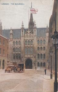 United Kingdom, LONDON, THE GUILDHALL, 1920 used Postcard
