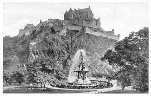 Edinburgh Castle and Ross Fountain, Silveresque