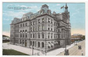 Custom House Post Office Louisville Kentucky 1910c postcard