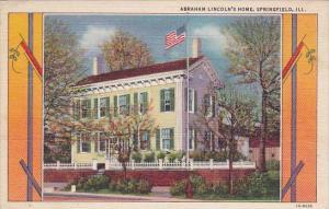 Illinois Springfield Abraham Lincolns Home 1947