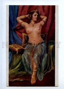 226553 Bajadere BELLY DANCER Nude HAREM by KOEHLER vintage PC