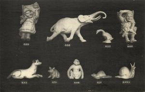 france, DIVES-SUR-MER, Poterie de Normandie, Pottery, Elephant Monkey (1910s)
