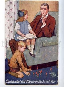 225640 WWI RUSSIA EXHIBITION British poster Daddy what did you