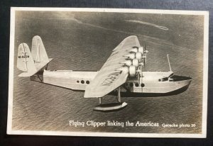 Mint USA Real Picture Postcard Early Aviation Flying Clipper Linking America