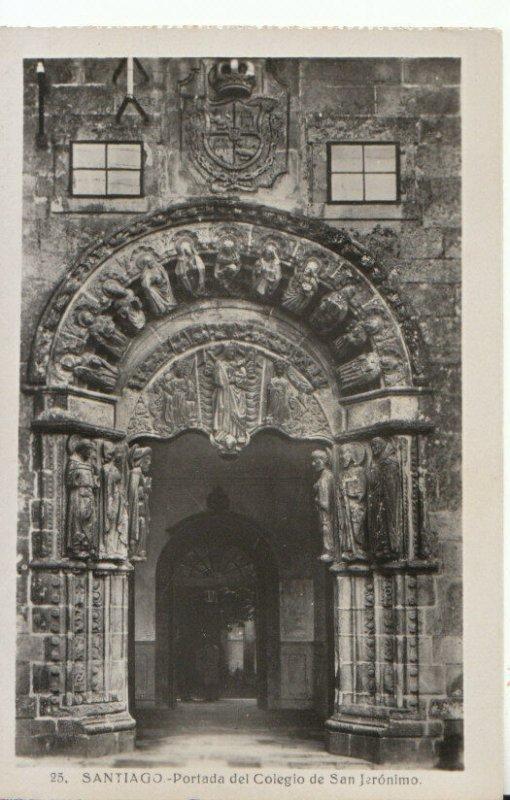 Spain Postcard - Santiago - Portada Del Colegio De San Jeronimo - Ref TZ6092