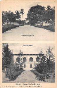 German East Africa Tanzania Lindi, Bezirksamt, Strassenpartie, D.O.A. Postcard