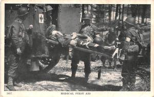 Military Post Card Old Vintage Antique Postcard Medical First Aid 1943 Missin...