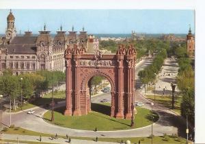 Postal 037781 : Barcelona. Arco de triunfo hacia el mar