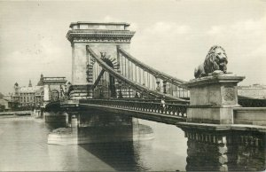 Postkarte Budapest Lanchid picture