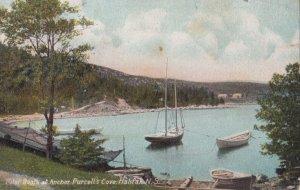 HALIFAX , Nova Scotia , Canada , 1908 ; Pilot Boats at anchor , Purcell's Cove