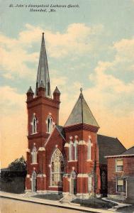 Hannibal Missouri~St John's Evangelical Lutheran Church~1910 Postcard