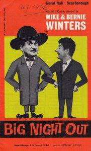Mike & Bernie Winters Scarborough Yorkshire 1960s Theatre Programme