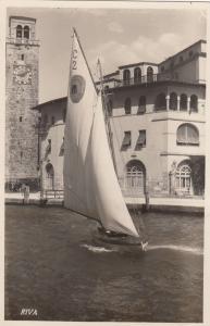 RP: Riva , Italy, 1900-1910s : Sailboat in harbor