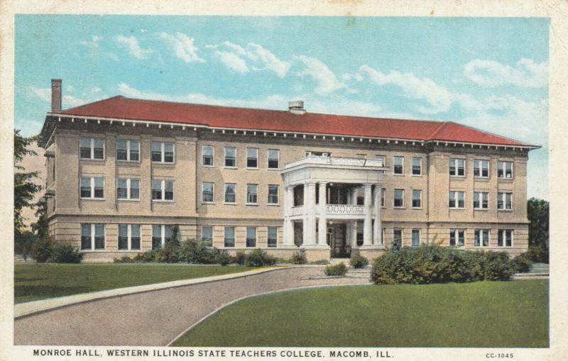 MACOMB, Illinois, PU-1938; Monroe Hall, Western Illinois State Teachers College