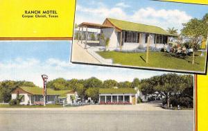 Corpus Christi Texas exterior views Ranch Motel antique pc Z21533